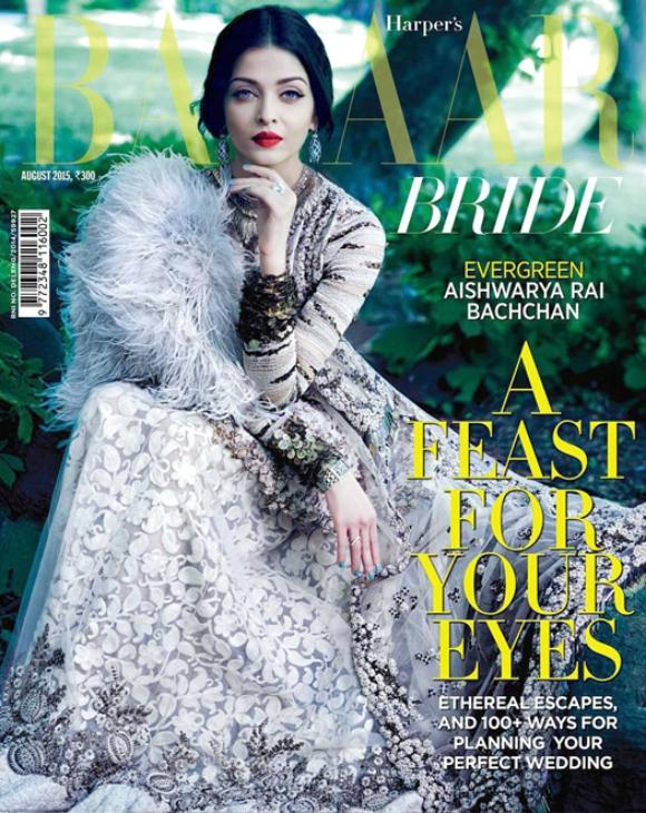 Aishwarya Rai covers Harper's Bazaar Bridal edition