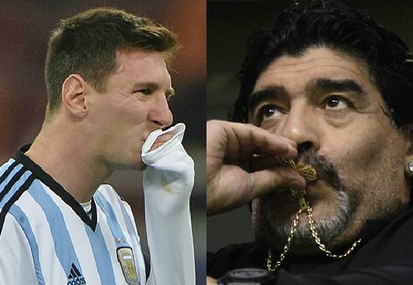 Lionel Messi vs Diego Maradona