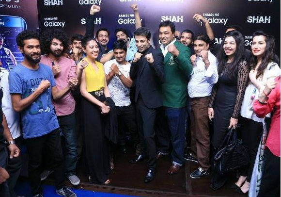 Stars of Pakistani cinema and entertainment came out to support Adnan Sarwar's sports biopic, Shah.