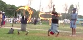 akshay stunt accident