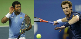 The new tennis doubles pairing of Leander Paes and Andy Murray enjoys their first victory in the Montreal Masters.