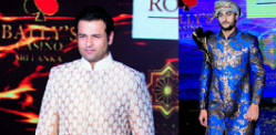 Sandip Soparrkar walks for India's Luxury Style Week
