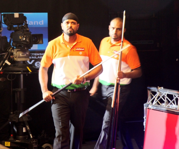 Raj Hundal and Indian Dhols at Pool World Cup 2015