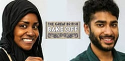 Nadiya and Tamal in Great British Bake Off semis