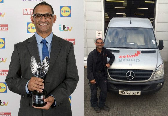 Dee Patel wins Pride of Britain Award 2015