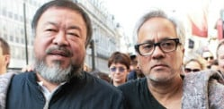 Anish Kapoor leads Refugee March with Ai Weiwei