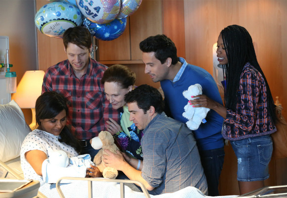 Mindy and Danny Castellano (Chris Messina) welcome their first child
