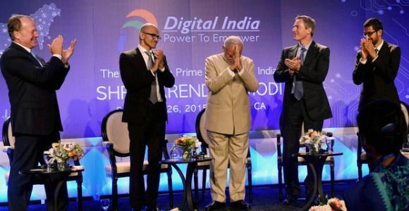 Modi met with the brilliant Desi technology leaders like Sundar Pichai of Google, Satya Nadella of Microsoft and Shantanu Narayen of Adobe.