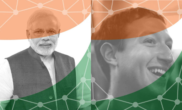 Narendra Modi met with the CEO of Facebook, Mark Zuckerberg to discuss Digital India and social media.