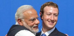 Narendra Modi visits Facebook with charm