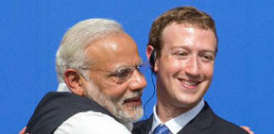 Narendra Modi visits Facebook with charm