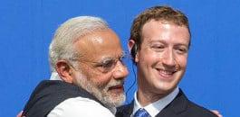 نریندر مودی نے فیس بک کے سی ای او ، مارک زکربرگ سے ڈیجیٹل انڈیا اور سوشل میڈیا پر تبادلہ خیال کرنے کے لئے ملاقات کی۔