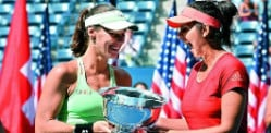 Sania Mirza and Hingis win US Open Doubles