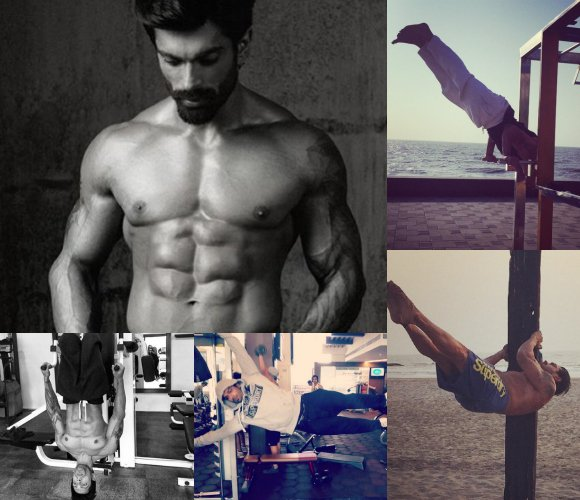 Karan Singh Grover Working Out