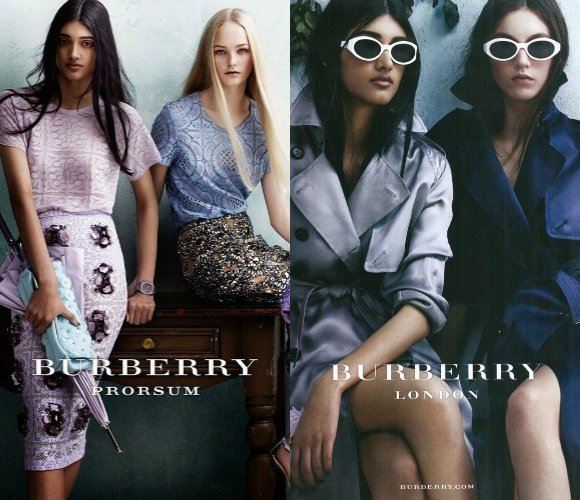 Burberry puts her name on the map when the British luxury fashion brand cast Neelam Gill in a print ad and catwalk show in 2013.