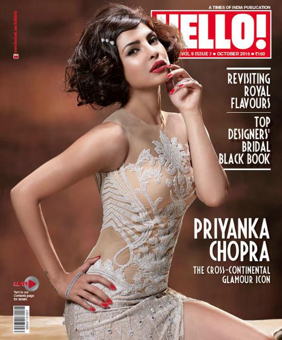 Priyanka Chopra is Retro Beauty for Hello! India