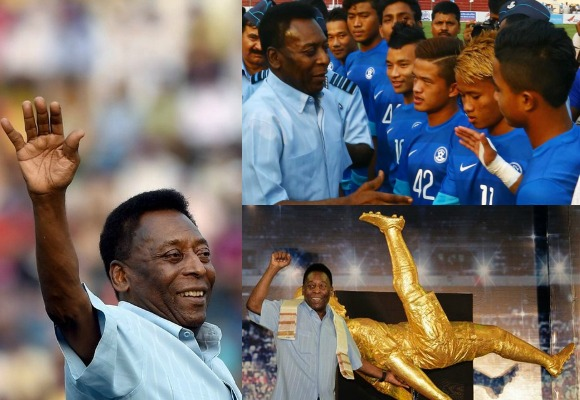Next on Pelé's itinerary was to attend Atlético de Kolkata