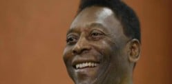 Football Legend Pelé visits India