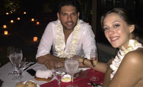 Hazel Keech gets engaged to Yuvraj Singh