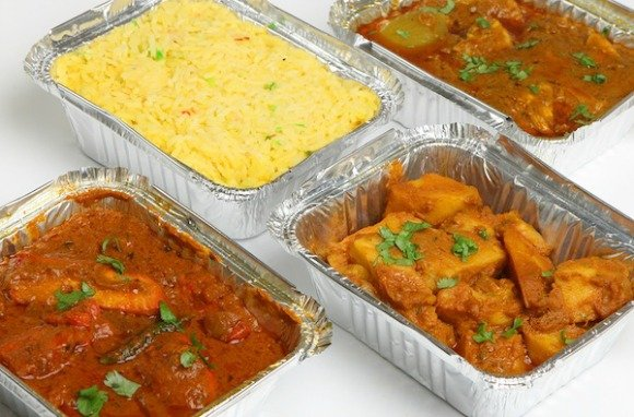 Indian takeaway contains enough to feed two people