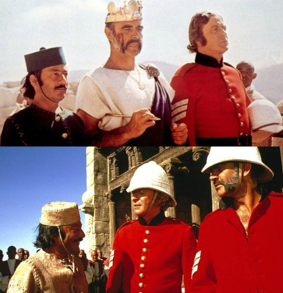 The British legendary actor was the one who recommended a role for Saeed Jaffrey in The Man Who Would Be King (1975), starring Caine himself and Sean Connery.