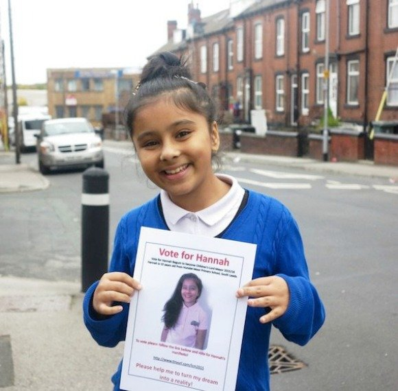 Hannah Begum elected as Leeds Children's Mayor