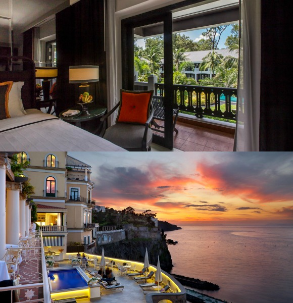 Completing the Top 3 is the Shinta Mani Resort in Cambodia and the Bellevue Syrene in Italy.
