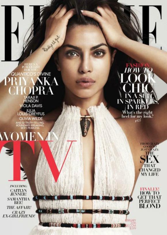 Priyanka Chopra looks Enticing on Elle US cover
