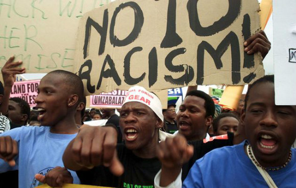 African Students Protest Against Racism in India- extra image2