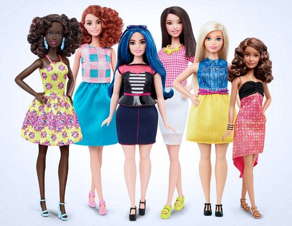 Barbie Dolls reveal New Shapes and Colours