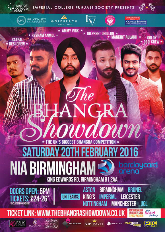 The Bhangra Showdown 2016 comes to Birmingham
