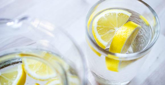 Clear Lemon Water