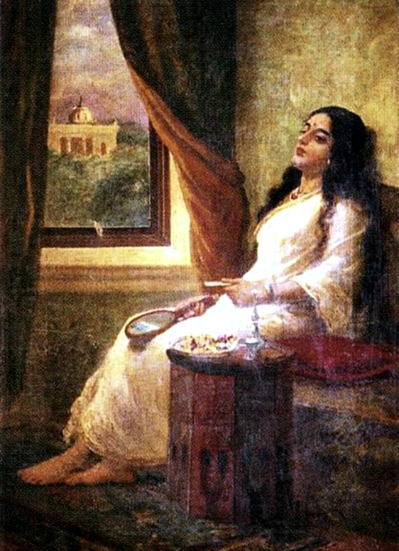 Ravi-Varma-Oil-Paintings-Contemplation