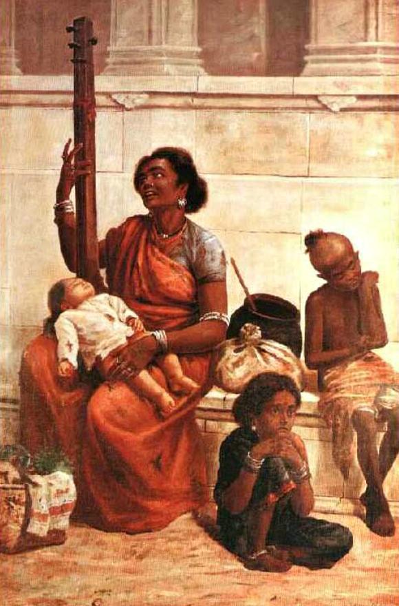 रवि-वर्मा-तेल चित्रों-जिप्सी