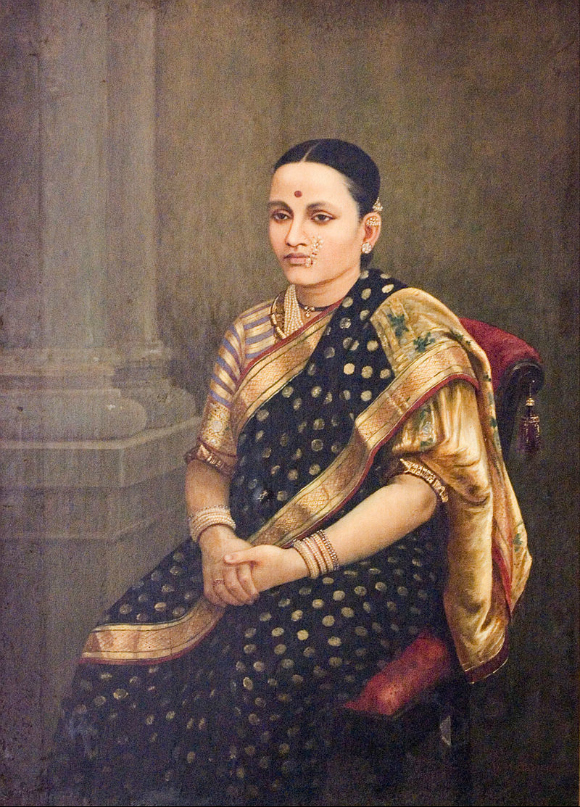 Ravi-Varma-Oil-Paintings-Lady