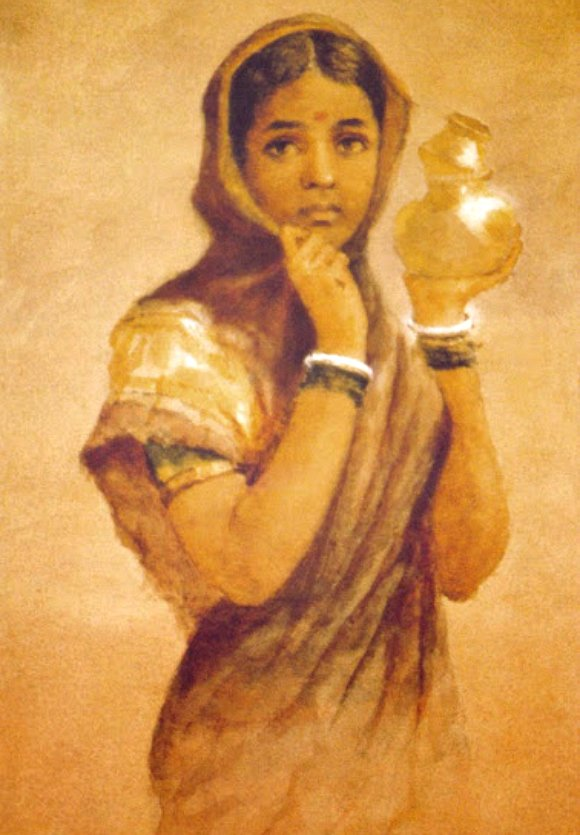 Ravi-Varma-Oil-Paintings-Milk
