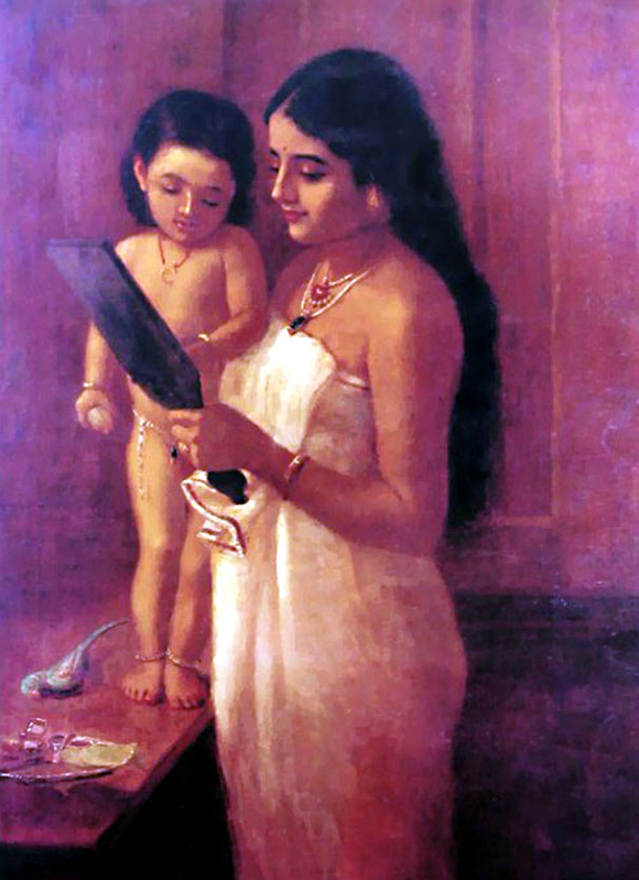 Ravi-Varma-Oil-Paintings-Mother-Baby