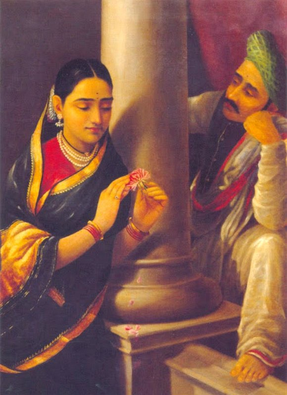 Ravi-Varma-Oil-Paintings-Romance