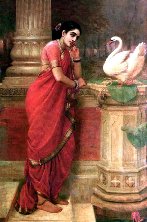 Ravi-Varma-Oil-Paintings-Swan