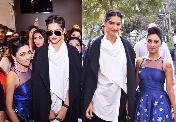 Sonam Kapoor unveils Parul J Maurya Collection