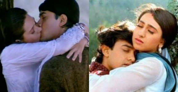 amir and karisma bollywood kisses