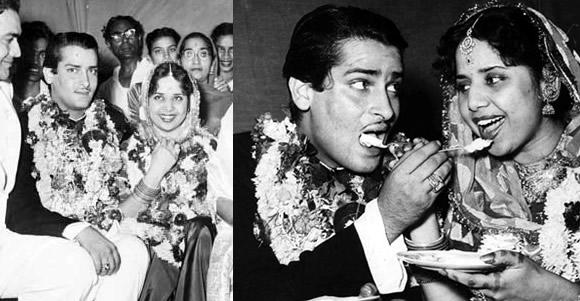 Shammi Kapoor and Geeta Bal