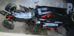 Alonso Mclaren crash top image