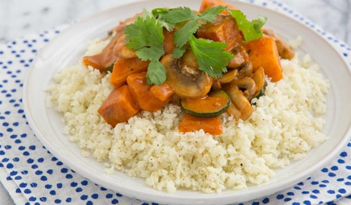 Cauliflower Rice with Curry
