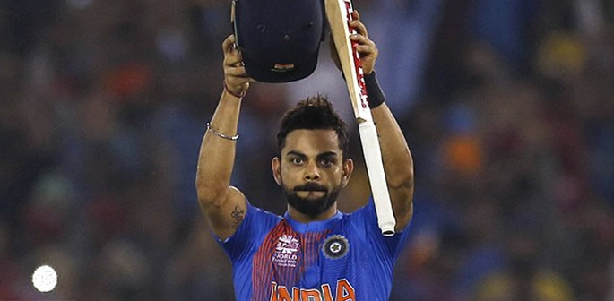 Virat Kohli wins for India