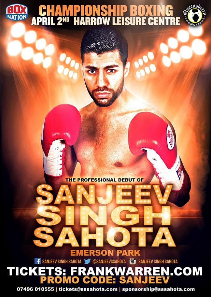 Sanjeev Singh Sahota makes Professional Boxing Debut