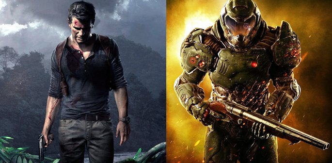 DOOM vs Uncharted 4
