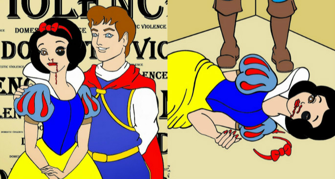 Famous Cartoon Couples in Domestic Violence Campaign ...