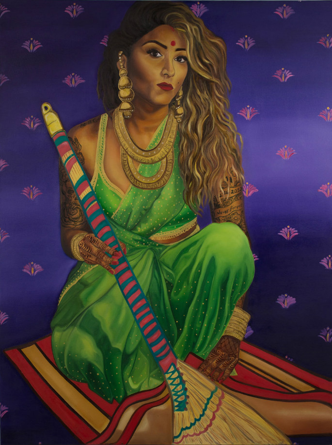 Feminist Artists Paints Indian Pinup Girls 2