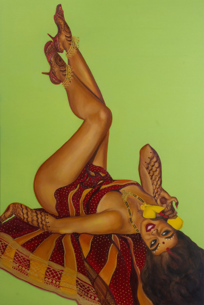 Feminist Artists Paints Indian Pinup Girls 5